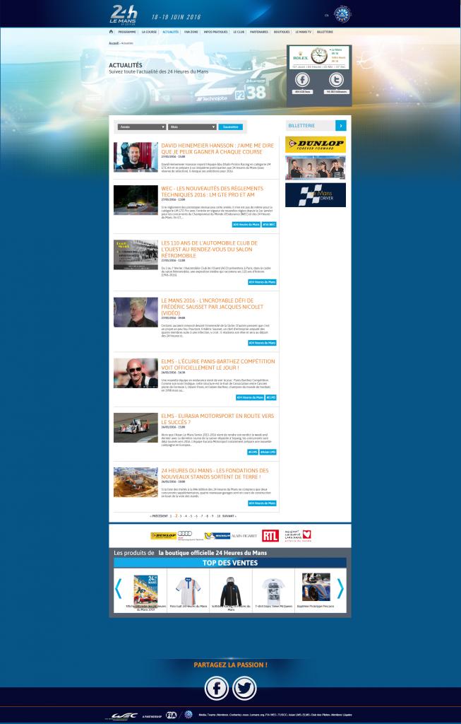 24h-lemans.com : contenu événementiel toute l'année