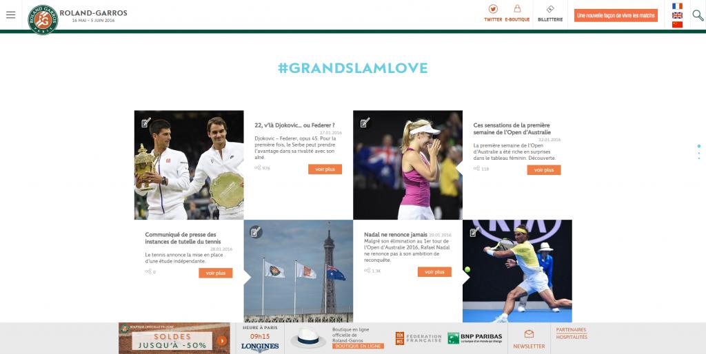 Le site événementiel de Roland Garros